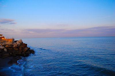 Вид на Каспийское море