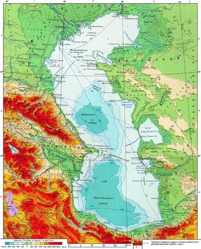 Самое большое озеро на Земле карта