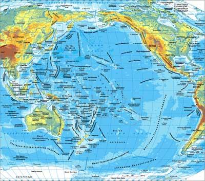 Cамый большой и глубокий океан карта