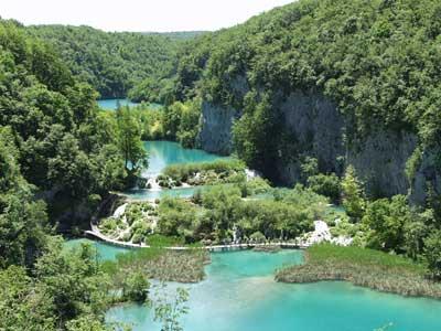 Плитвицкие озёра - цветные озера