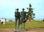 Памятник рыбакам на озере Балатон в Венгрии