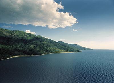 Вид на озеро Танганьика