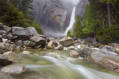Удивительный водопад Йосемит (Yosemite Falls)